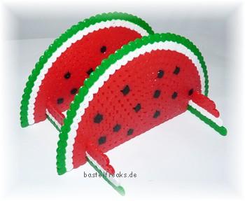 Bastelfreaks Bügelperlen Melonen Serviettenständer Zum Nachbasteln