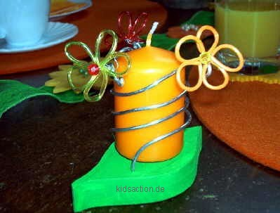 Fr hlingshafter kerzenhalter aus holz basteln - Kerzenhalter basteln ...
